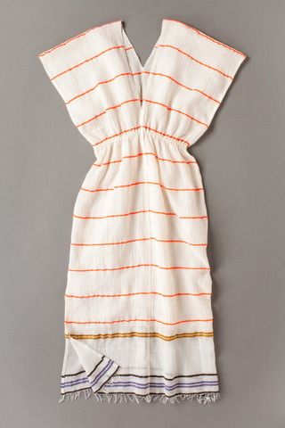 Scarf into dress. This is a great idea for a beach cover up