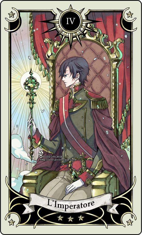Tarot card 4 - the Emperor by rann-poisoncage.deviantart.com on @deviantART