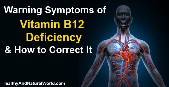 Warning Symptoms of Vitamin B12 Deficiency and How to Correct It - This vitamin is dubbed the energy vitamin and its shortage can result in an array of health problems, including some potentially very serious conditions.
