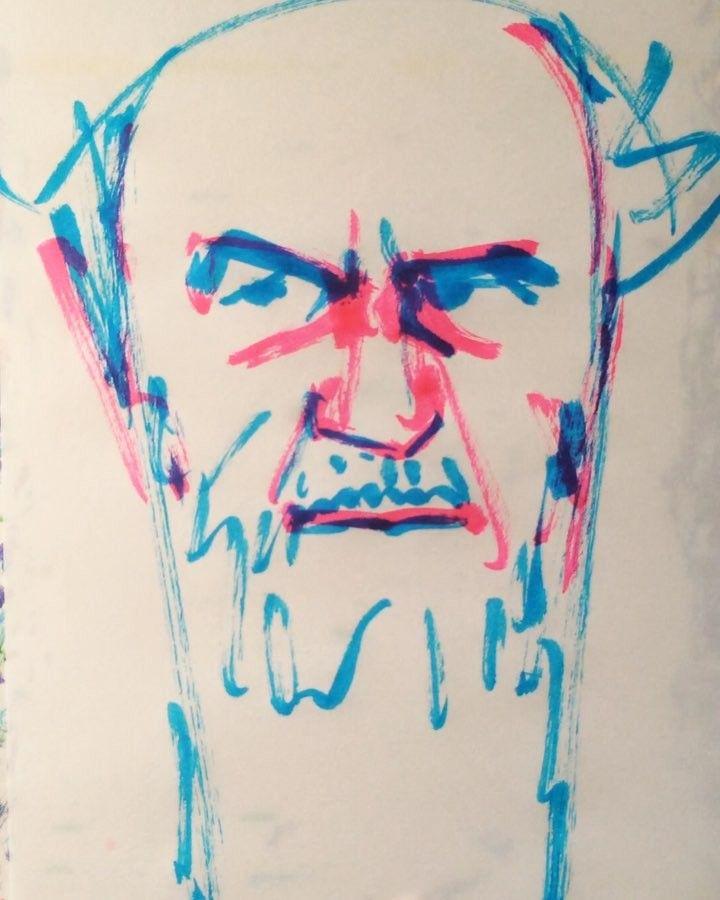 いいね!14件、コメント2件 ― @1mindrawのInstagramアカウント: 「#1mindraw #一分描画 #RūhollāhKhomeinī روحالله خمینی# #ルーホッラーホメイニー #ホメイニ師 #19020924 #birthday #誕生日…」
