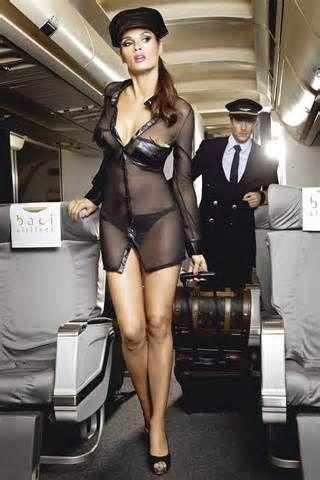 Mile high club stewardess