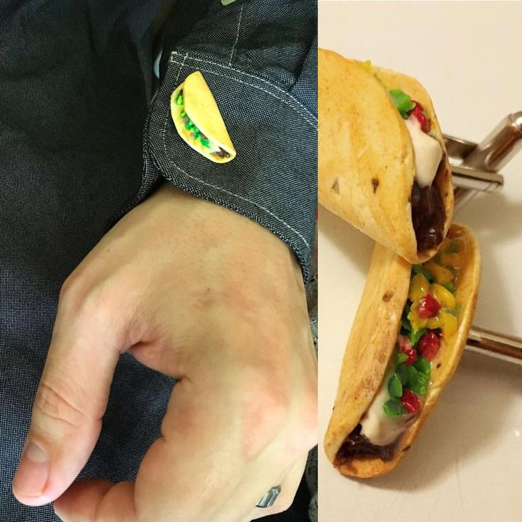 Taco cuff links are a great way to show your love for ...