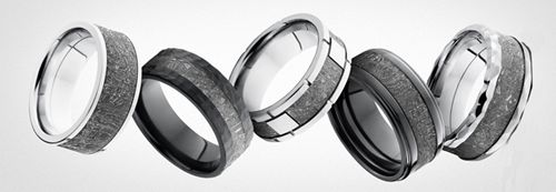 Interior Fingerprint Titanium Rings