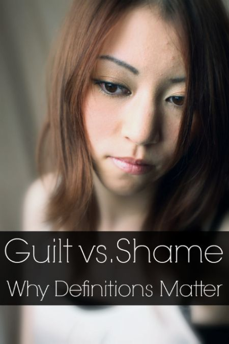 Article: Guilt vs. Shame - Why definitions matter.  Read here http://www.covenanteyes.com/2013/02/01/guilt-vs-shame-why-definitions-matter/