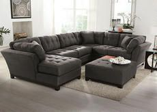 Rendezvous Gray 3 Pc Sectional