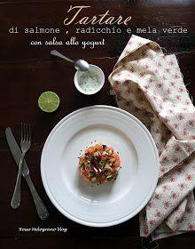 Tartare di salmone, radicchio e mela verde
