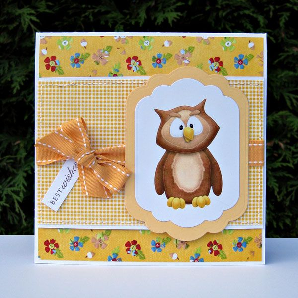 Cute owl for a Fall or Autumn card theme.   FQB - In the Woods Collection