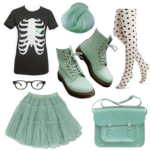 Pastel Green Creepy Cute