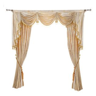 "Ulinkly.com - Luxurious window curtain - Cozy Feeling, 100""*96"", 2 Panels with Valance - This price includes 2 panels and valance, each panel is 100""/96"", 100% Chenille."