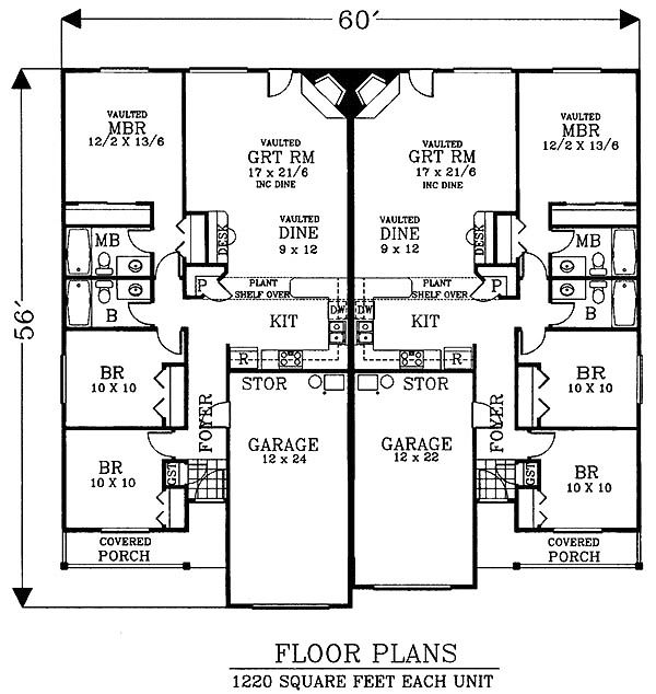 12 best new home ideas images on pinterest arquitetura Multi family apartment floor plans