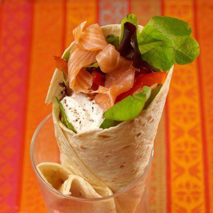 Wraps au saumon fumé #recette #recipe