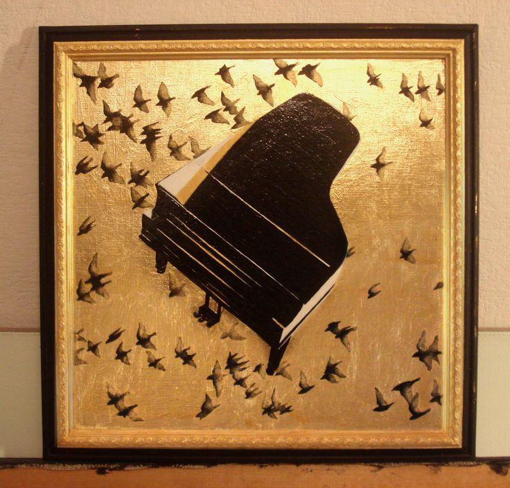 35 Х 35 смб акрил, сусальное золото, холст на картоне, 2017