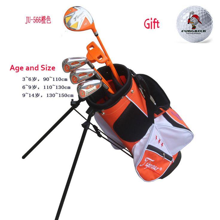 2017 Brand Junior Kids Children Left Handed Golf Clubs Half Set with Golf Bag  Left Hand Golf Club for Kids Free Funny Golf Ball