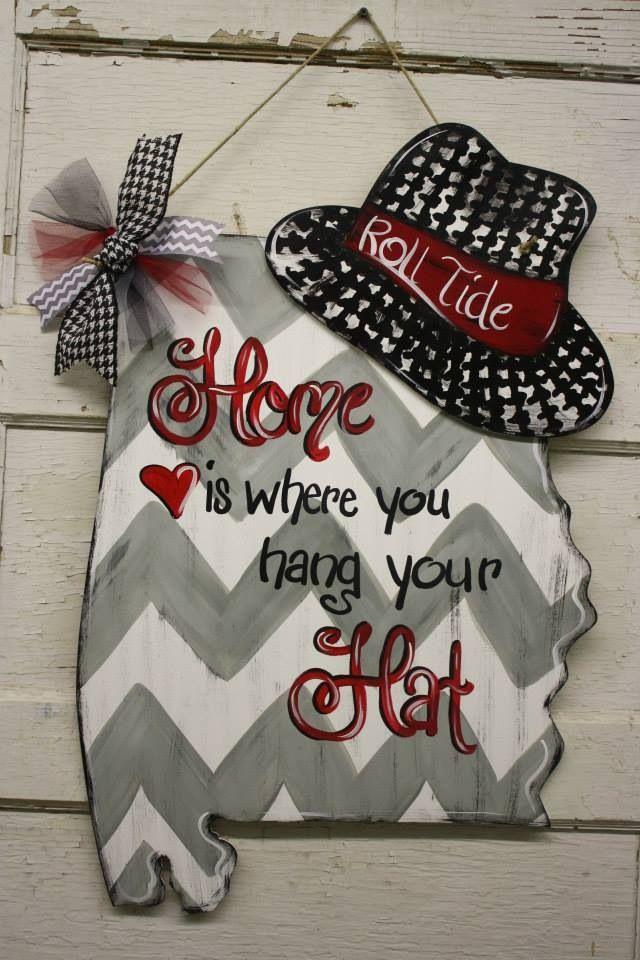 Home is where you hang your hat - door hanger