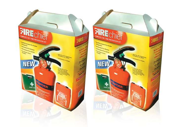 Fire Chief Fire extinguisher packaging  to see more of what we do please find us at