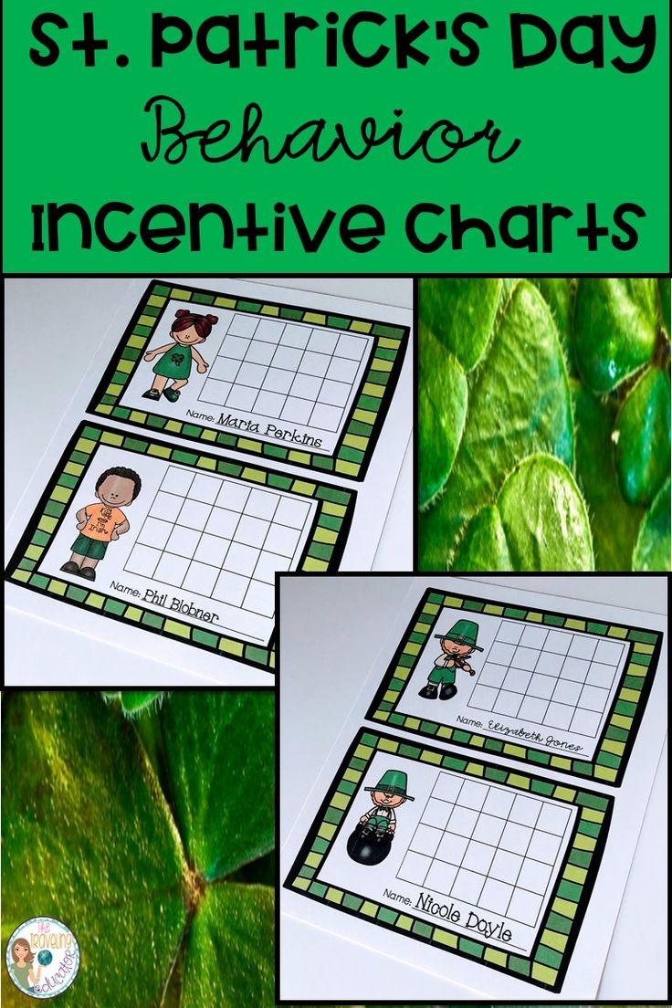 Promote good classroom behavior with these St. Patrick's Day Behavior Incentive Charts!  Students in kindergarten through 2nd grade will love these incentive charts to earn rewards in the classroom.  Students earn stickers for positive behavior in the classroom.  Each time a student earns 5 stickers in a row, he or she earns a prize or a reward.  Students will be good in no time with these incentive charts.  Click here for these easy prep incentive charts. #St. Patrick's Day #students…