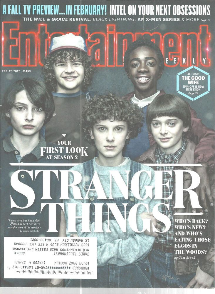 Stranger Things Season 2 Entertainment Weekly February 17 2017 Baranski    #DoesNotApply