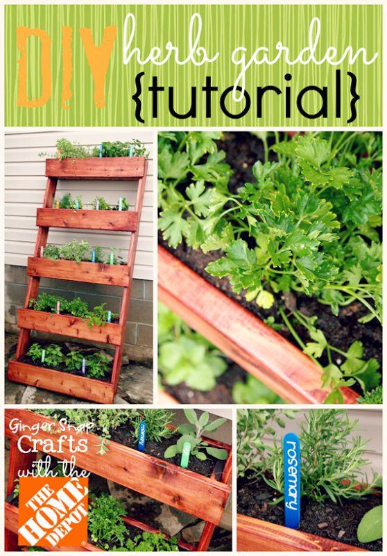 Diy Herb Garden Tutorial Gardening Ideas Pinterest