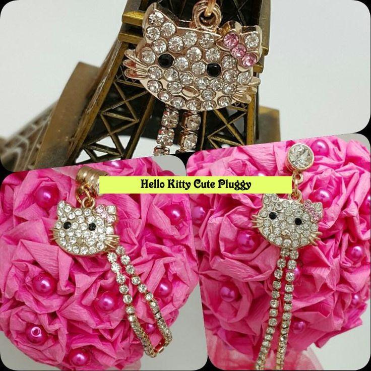 Kode : AWS-188, Nama : Hello Kitty Face 8 Long Jewelry Pluggy, Price : IDR 55