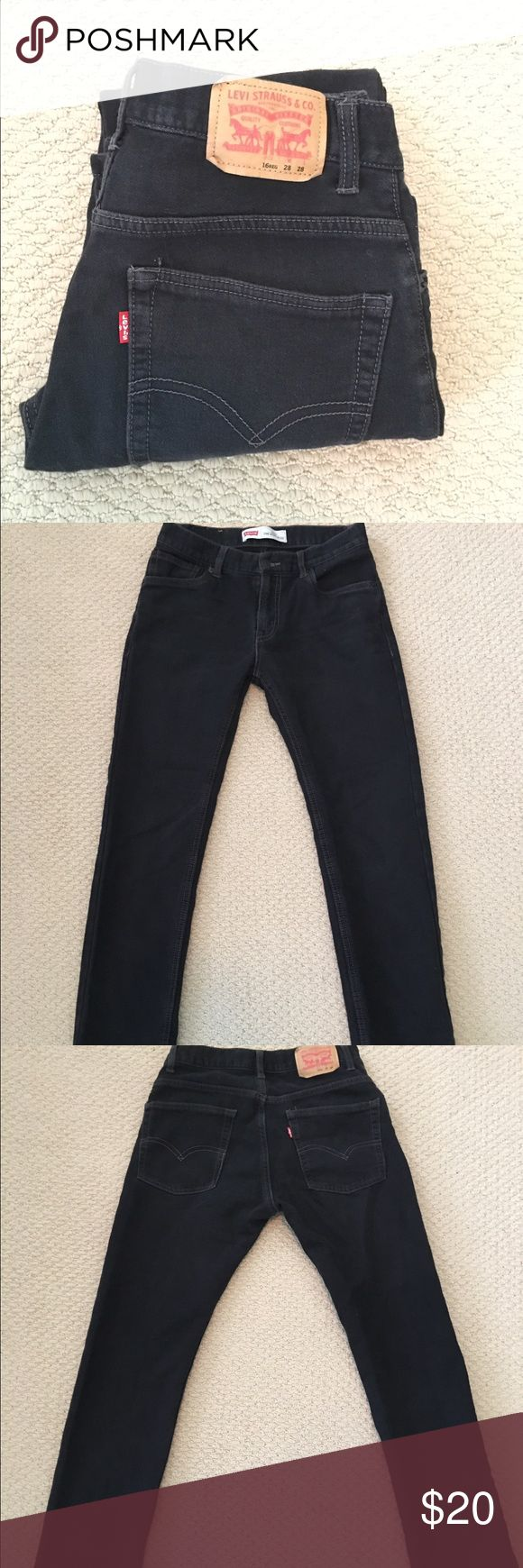 SALE! EUC Levi's 511 'The Knit' Jeans 28x28 These men's Levi's 511 slim jeans are in excellent condition. They're knit denim making them very comfortable and the faded black color is perfect for everyday where! Size 28x28 Levi's Jeans Slim