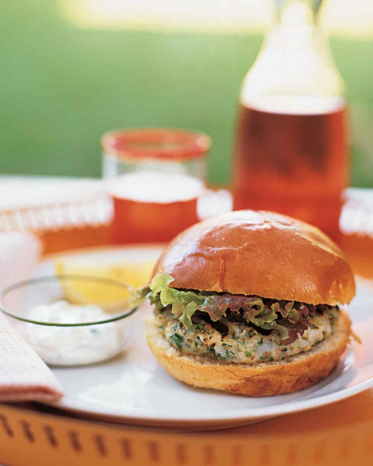 Shrimp And Cod Burgers Martha Stewart Living Sweet Shrimp And Fish Ground Together Form