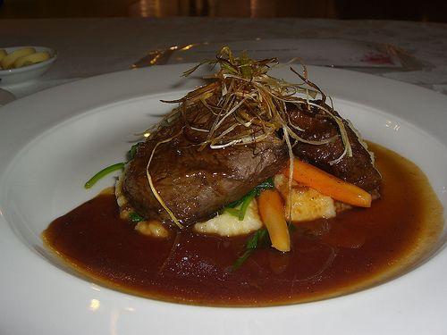 filetes de ternera en salsa de vino