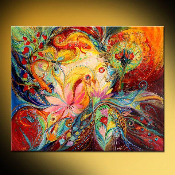 SOBRE ESTA PINTURA Obra de arte es una expresión de arte judío inequívoco, transportando la dualidad de la vida a través de la dualidad de colores, rojo y azul, revelando una cromaticidad potente tanto inspirador para ascenso por los movimientos del pincel fino hacia arriba Como se trata de una pintura hecho por encargo, será muy similar al que ves aquí, que ya he vendido. Marco de tiempo para crearla es de 6-8 días DATOS DE * Nombre: Los signos del zodiaco * Pintor: Elena Kotliarker…