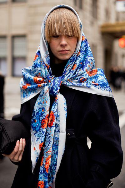scarf, Russian style Vika Gazinskaya