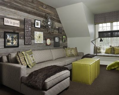 Delightful Bonus Room Decorating Idea.