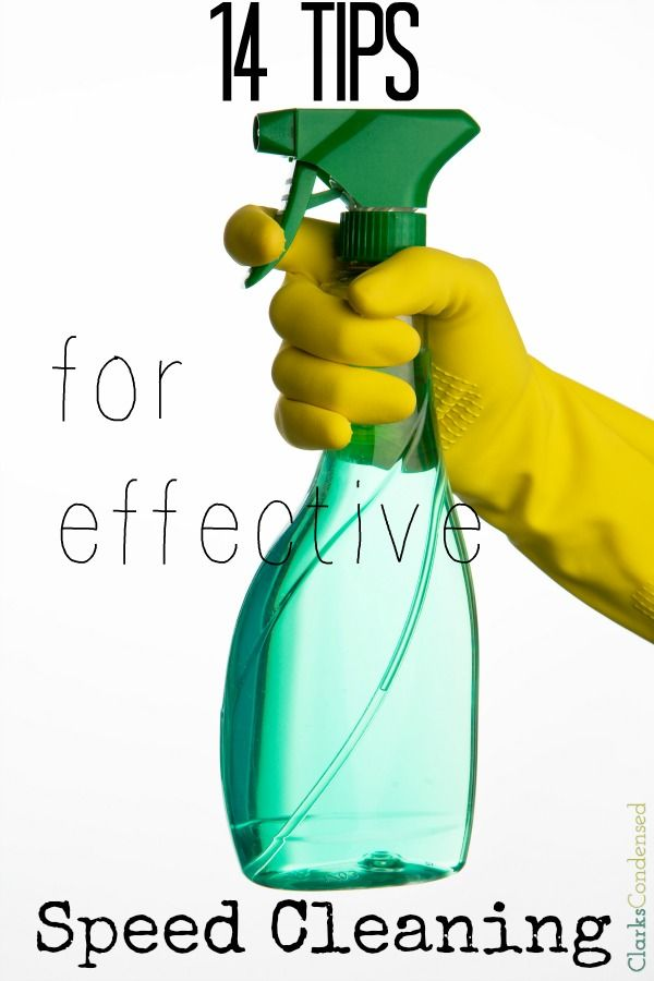 Cleaning can be a daunting task. However, there are a few things you can do to make cleaning go faster! Here are 14 tips for effective speed...