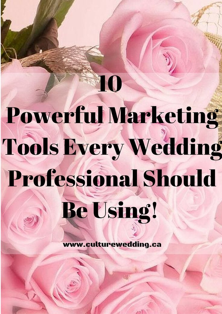 10 Powerful Marketing Tools Every Wedding Professional Should be Using #Weddingplanner #weddinghour #bookmorebrides  http://www.culturewedding.ca/top-10-useful-tools-wedding-professionals/