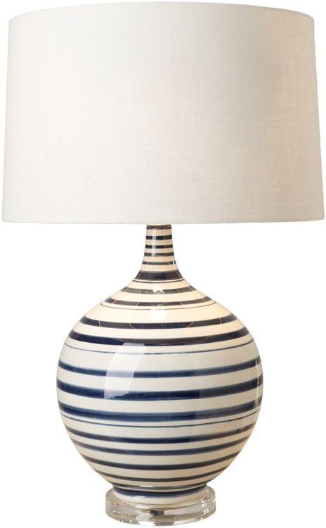 Blue striped tideline lamp