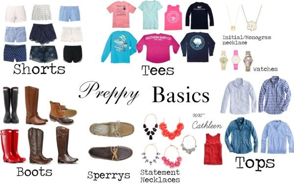Preppy Basics {Polyvore}
