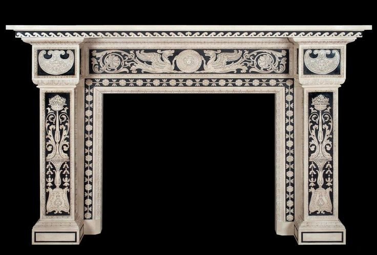 Grande Camino in marmo intarsiato in scagliola laboratorio Bianco Bianchi Firenze- Large fireplace inlaid marble scagliola workshop Bianco Bianchi Florence