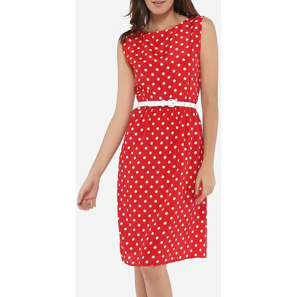 Boat Neck Dacron Polka Dot Skater Dress (1.320 RUB) ❤ liked on Polyvore featuring dresses, flare dresses, night out dresses, skater dress, polka dot dresses and holiday party dresses