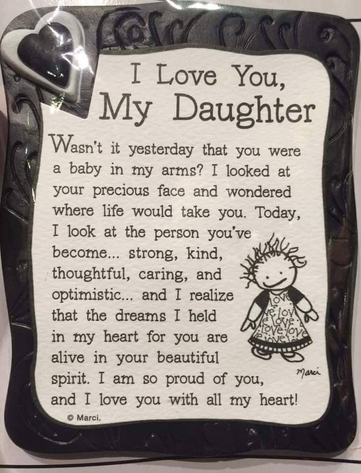 i love my daughter sayings - photo #18