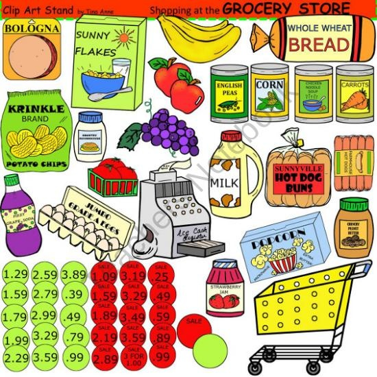 clip art grocery store from clipartstand by tina anne on 55 pages a. Black Bedroom Furniture Sets. Home Design Ideas