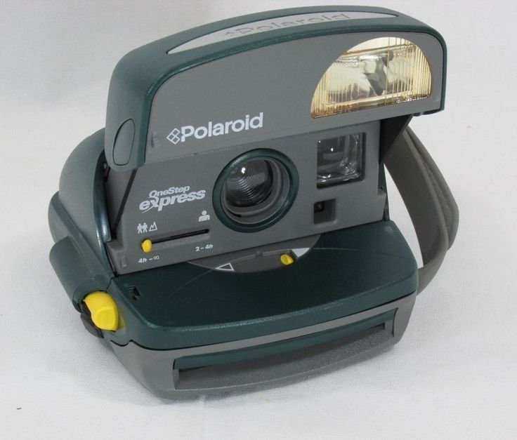 Polaroid One step express hunter green nineties with macro and built in flash #Polaroid
