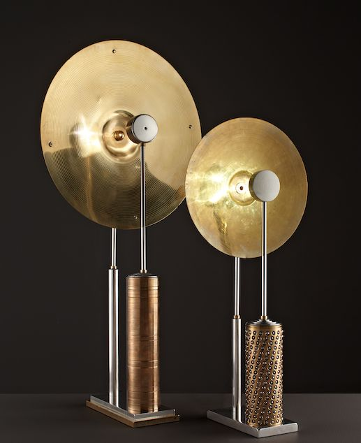 Luminaires d'exception signés HISLE. Design, Conception et Fabrication en France. Designer Hervé Isle de Beauchaine. Pair of lamps / Galerie Glustin Paris http://www.glustin.net