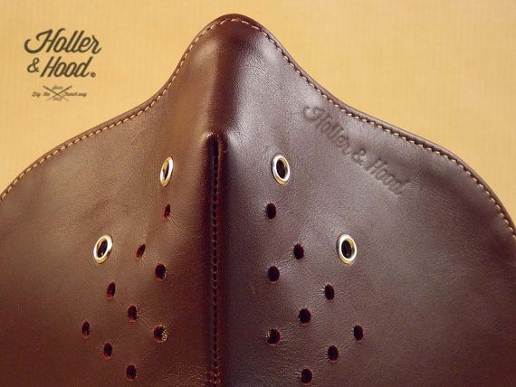 Holler&Hood Original 'Robin' hog nose. The second version of the Amazing motorcycle leather mask. Built for speed!!