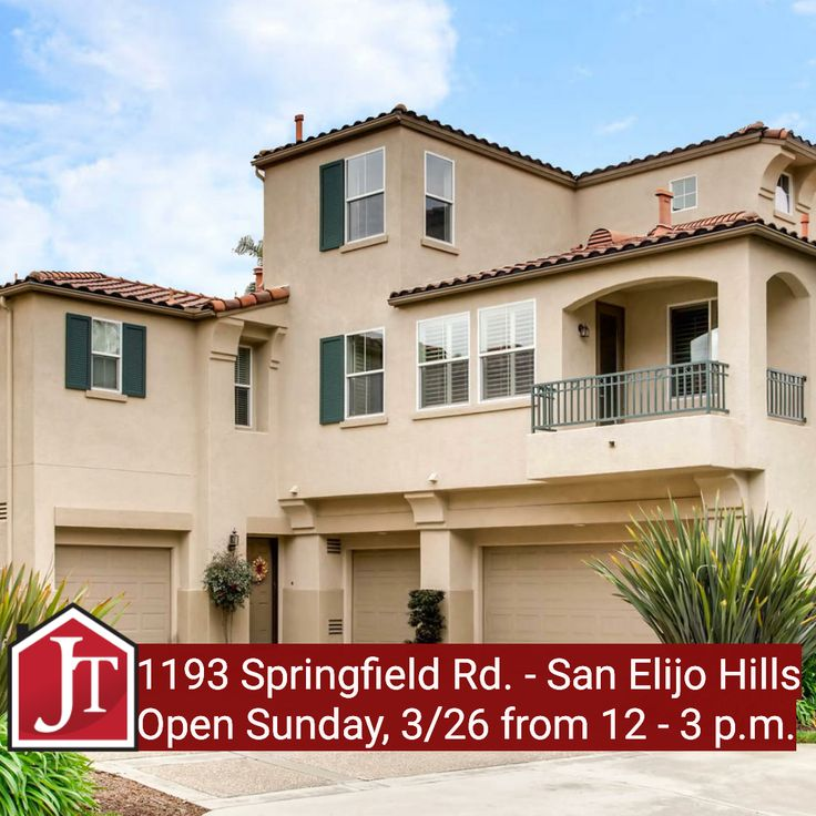 Beautiful Townhome In Gated Springfield Community In San