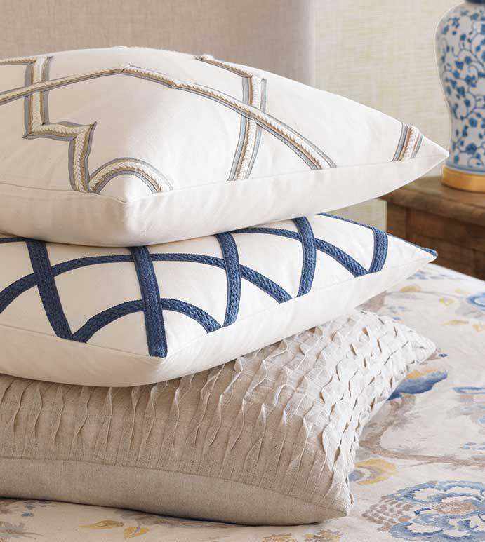 Oriental Box Pillow White Pillows
