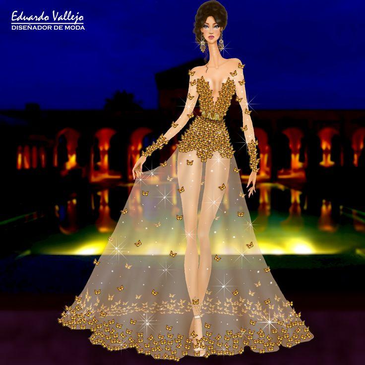 Design by #EduardoVallejo #yoamodibujarmoda #reto6 #vestidodenochegala