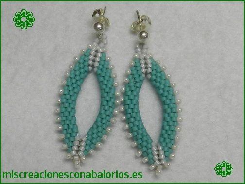 www.miscreacionesconabalorios.es: Tutorial pendientes ovalados.