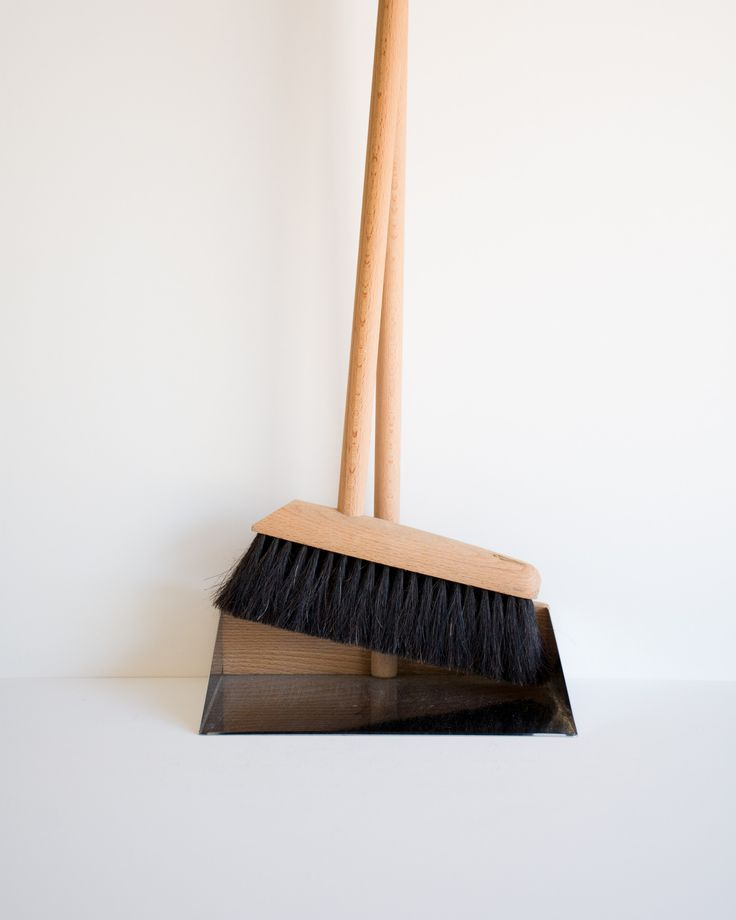 Broom And Standing Dust Pan