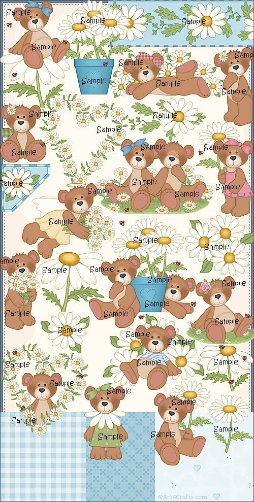 Craft Clipart 45: Daisy bears