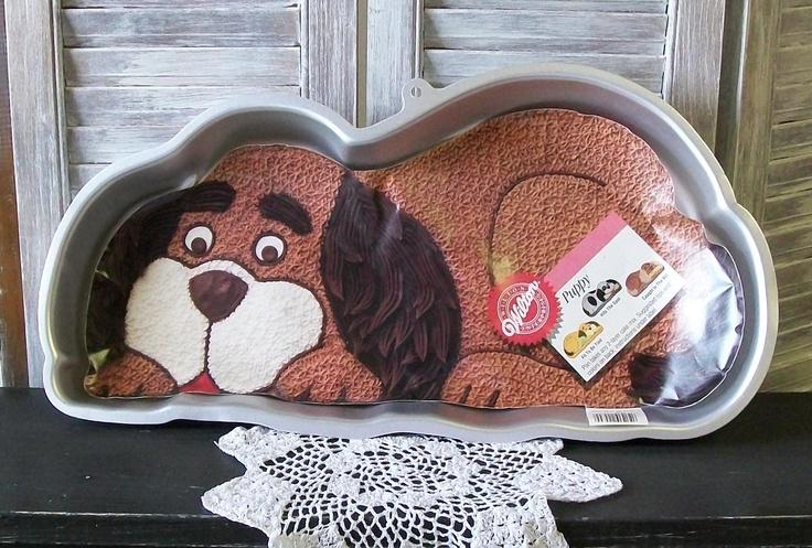 Vtg Wilton Puppy Dog Cake Pan..New Old Stock. $7.99, via Etsy.