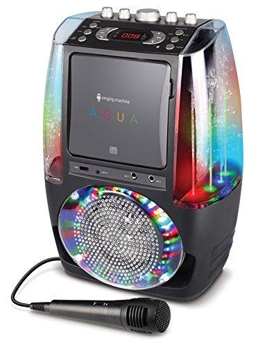 Singing Machine SML605BK Agua Dancing Water Fountain Karaoke System with LED Disco Lights & Microphone, Black | Best Karaoke Machines