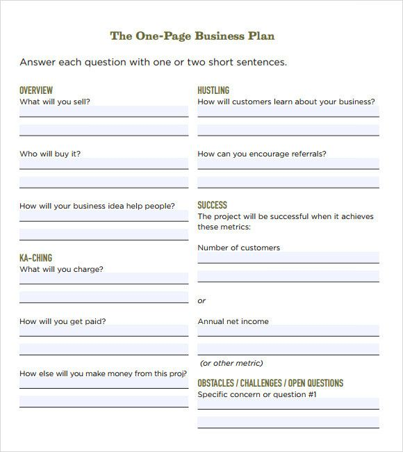 1 Page Business Plan Template Awesome Free 21 Simple Business Plan Templates I One Page Business Plan Business Plan Template Free Simple Business Plan Template
