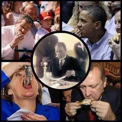 5 kare 1 dünya lideri... ÇÜNKÜ O ATA'MIZ LİDERİMİZ..! Kibarlık görgü mevkiyle değil, insanlık ve halkına saygıyla olur, bunu başarabilen lider benim Ata'mm... Gazi ((Mustafa Kemal Atatürk))